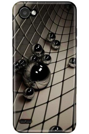 Turkiyecepaksesuar Lg Q6 Uyumlu Desenli Kılıf + Temperli Ekran Koruyucu Cam