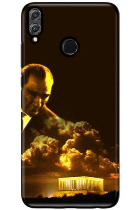 Turkiyecepaksesuar Huawei Honor 8x Uyumlu Kılıf + Temperli Ekran Koruyucu Cam