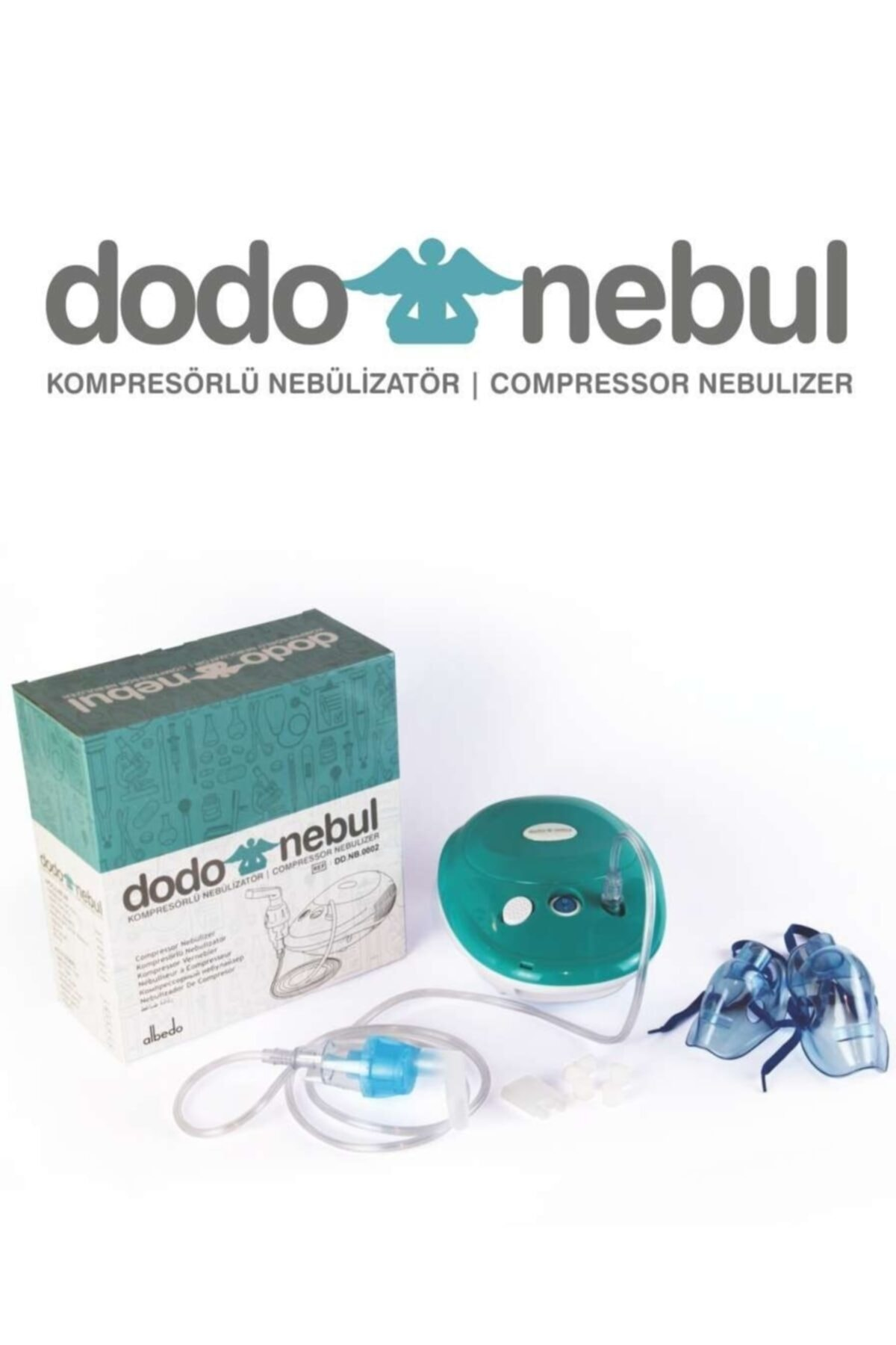 Dodo Sessiz Çalışan Kompresörlü Nebulizatör Cihazı 2