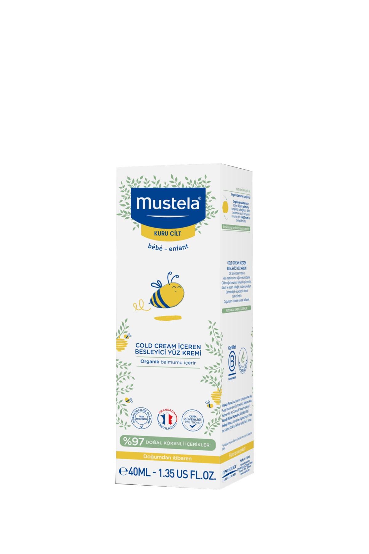 Mustela Cold Cream Içeren Besleyici Yüz Kremi 40 Ml 1