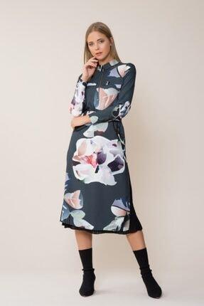 GIZIA CASUAL Desenli Midi Elbise