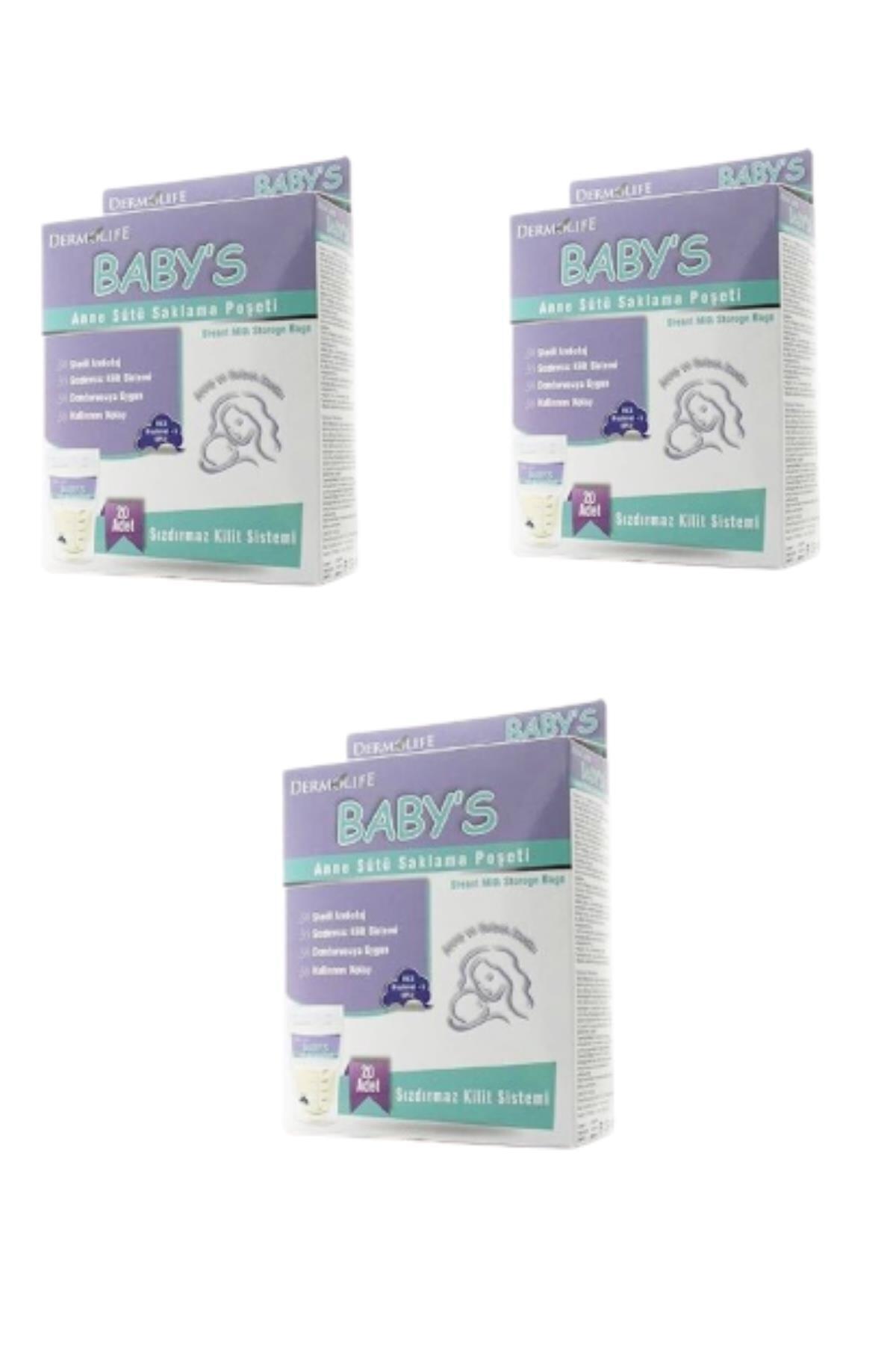 Dermolife Baby S Anne Sütü Saklama Poşeti 3 Adet 1