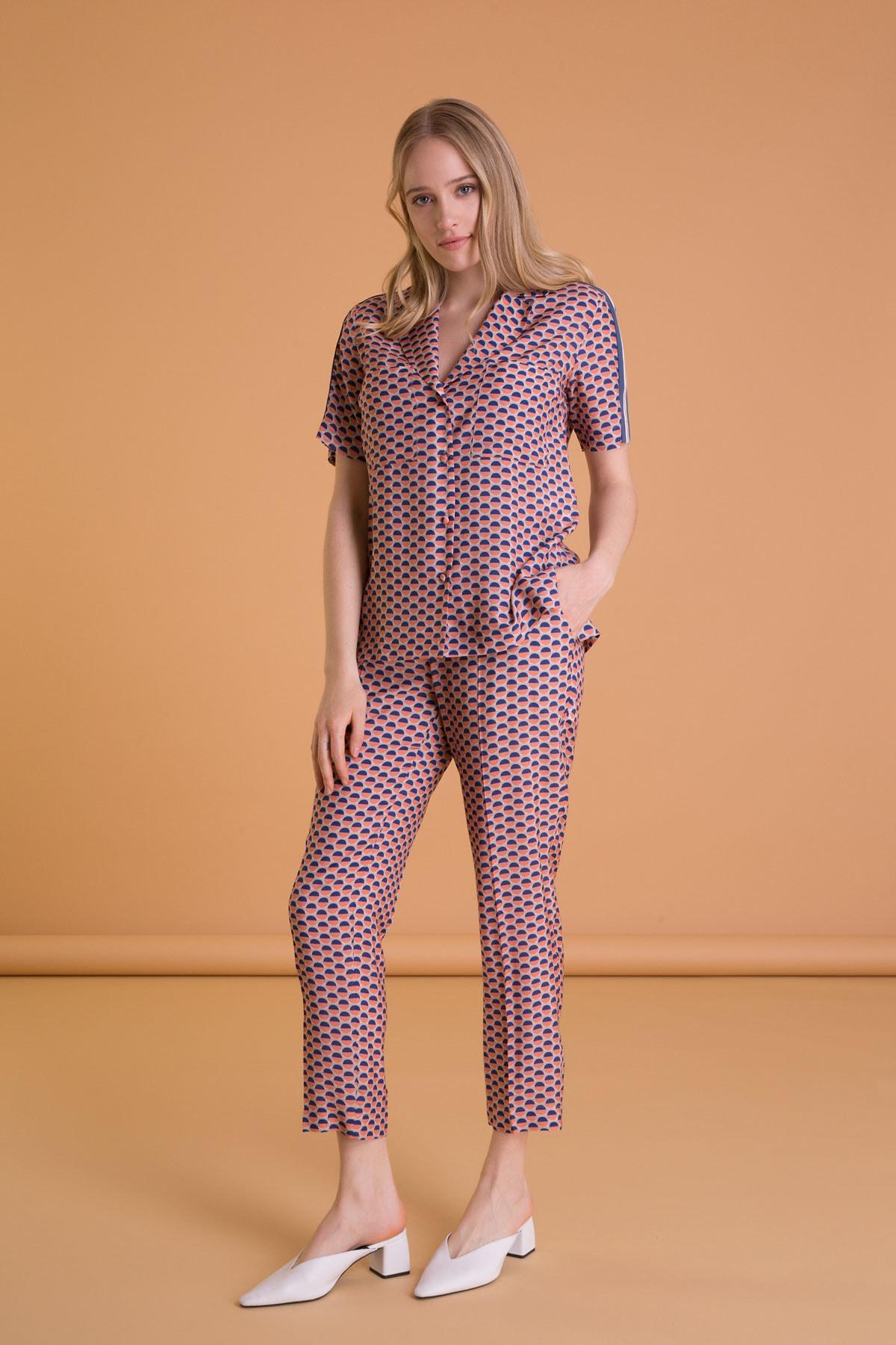 GIZIA CASUAL Karışık Renkli Havuç Kesim Cepli Pantolon 2