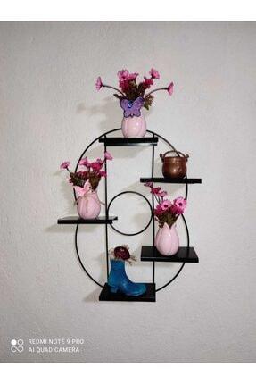 Mavera Home Siyah Dekoratif Metal Raf