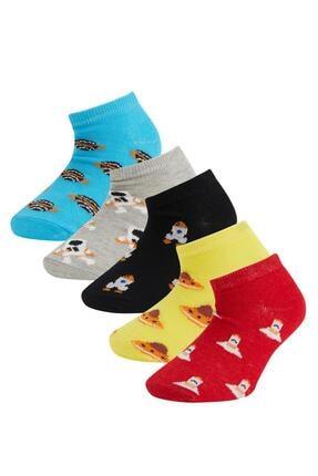 DeFacto Erkek Çocuk Desenli Patik Çorap 5'li