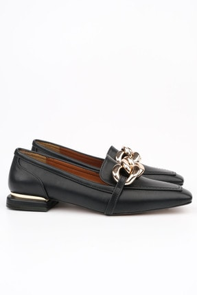Marjin Kadın Siyah Loafer Ayakkabı Novle