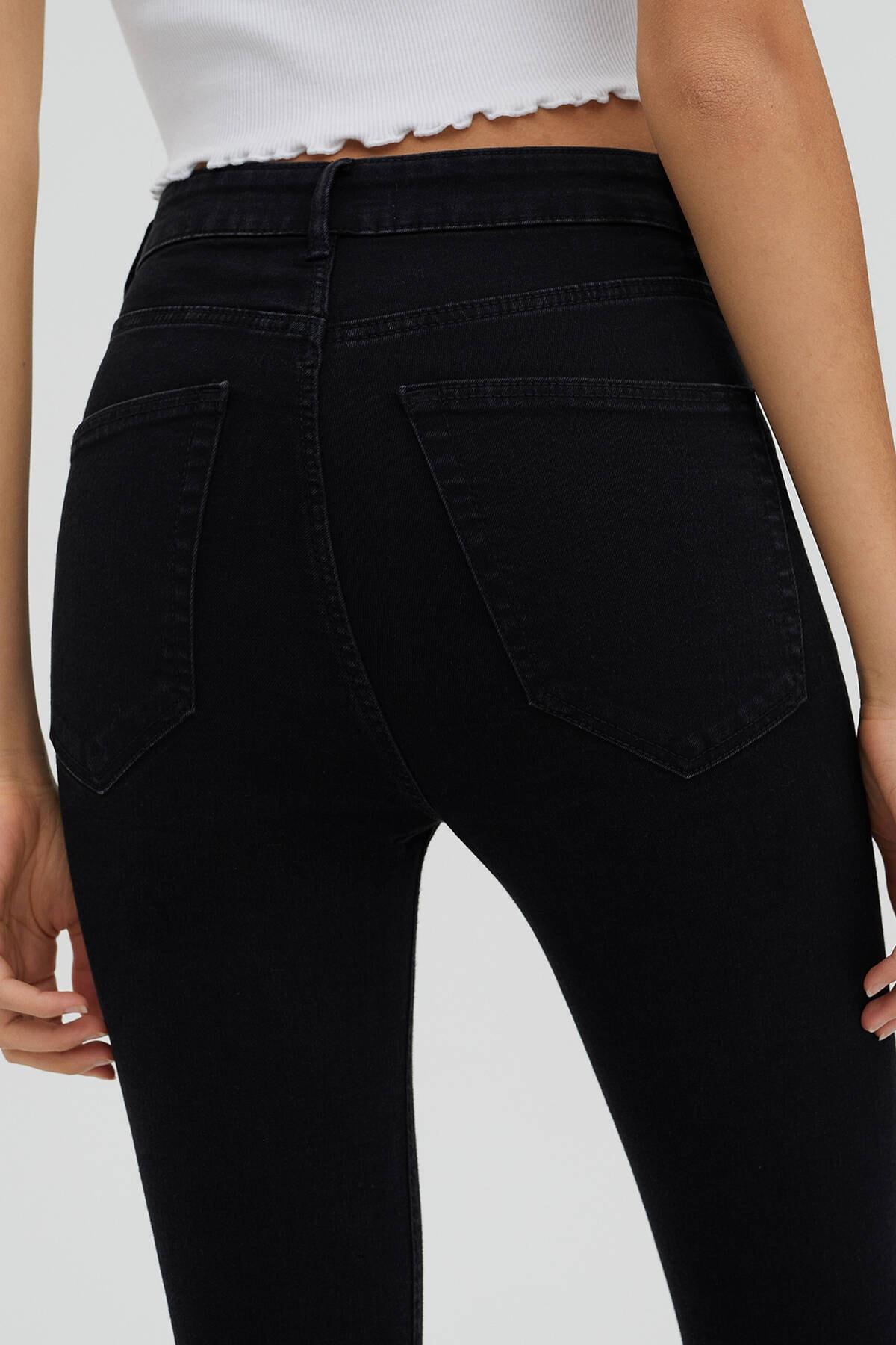 Pull & Bear Kadın Siyah Jeans 2