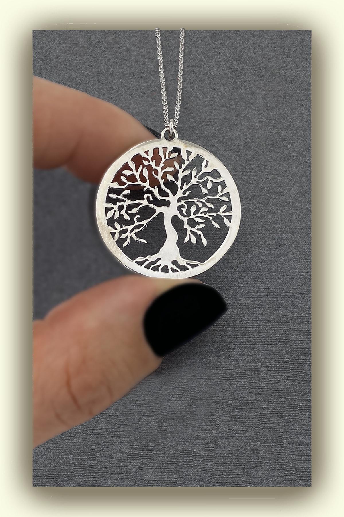jewelry by roxx Gümüş Hayat Ağacı Kadın Kolye 2