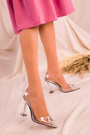 SOHO Gümüş Kadın Klasik Topuklu Ayakkabı 15975
