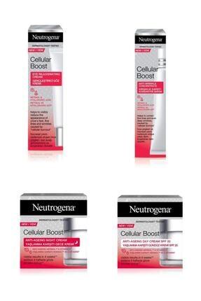 Neutrogena Cellular Boost Yaşlanma Karştı Gündüz+gece Kremi+gençleştirici Göz Kremi+ Konsantre Bakım