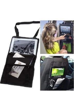 Ankaflex Araç Içi Aksesuar Koltuk Arkası Organizer Tablet Telefon Çantası Tutucu Eşya Düzenleyici