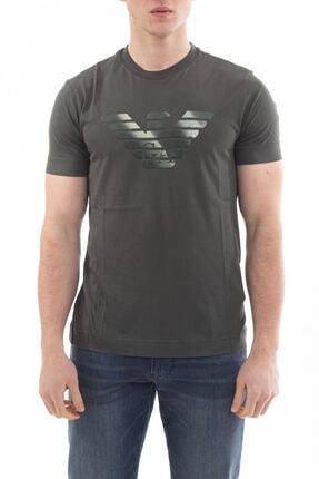 Emporio Armani ErkekYeşil Logo Baskılı Kısa Kollu T-shirt