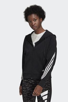 adidas Kadın Siyah Günlük Kapüşonlu Sweatshirt
