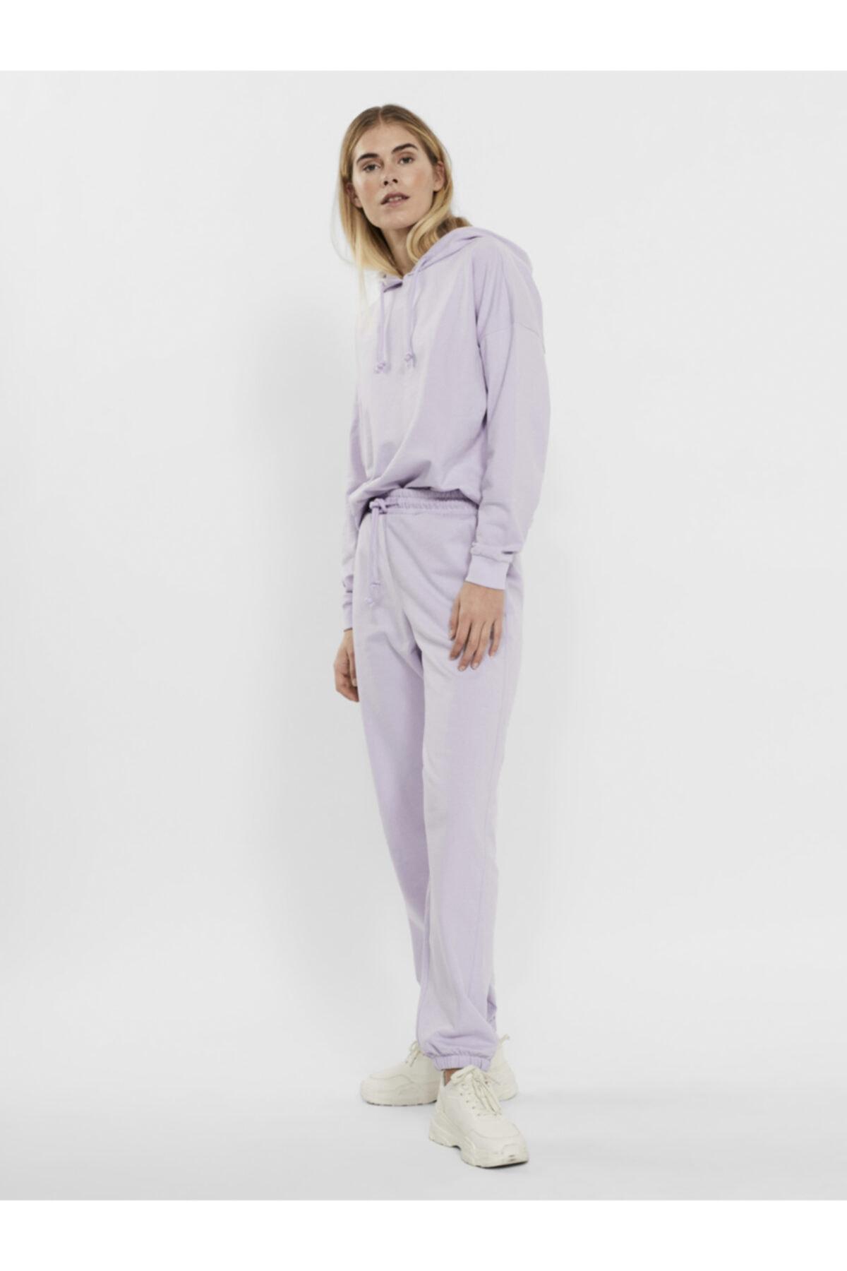 Vero Moda Kadın Pastel Lilac Paçası Lastikli Yüksek Bel Jogger Pantolon 10251096 Vmoctavıa 1