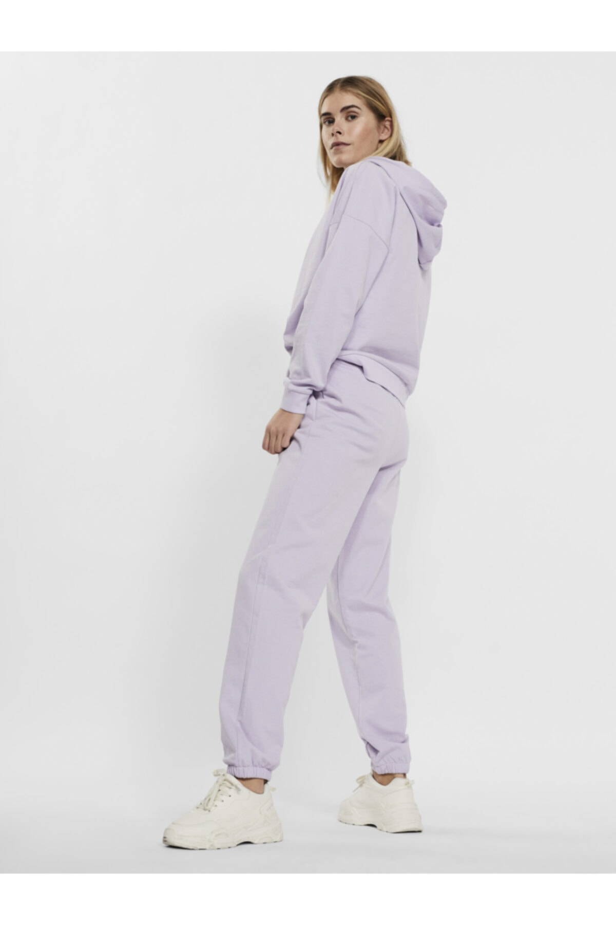 Vero Moda Kadın Pastel Lilac Paçası Lastikli Yüksek Bel Jogger Pantolon 10251096 Vmoctavıa 2