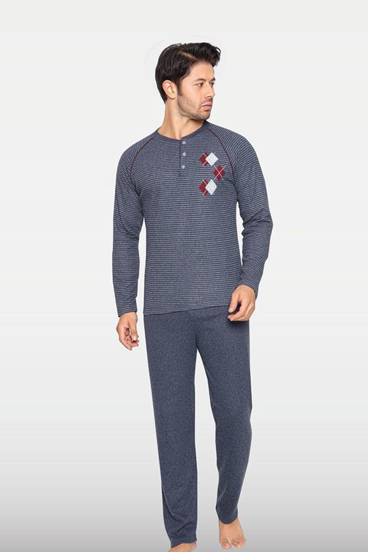 Kompedan Erkek Gri Pijama Takımı 1