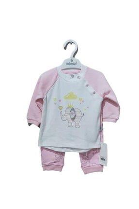 Bebengo Kız Bebek Pembe Filli Takım 5029