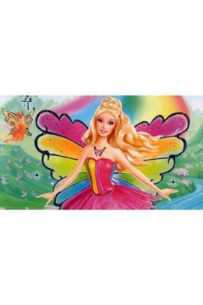 velomy Kelebek Barbie Gofret Plaka Üstüne Resim