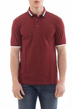 Emporio Armani Erkek  Bordo Yaka Logo Detaylı Pamuklu Polo Yaka T-shirt