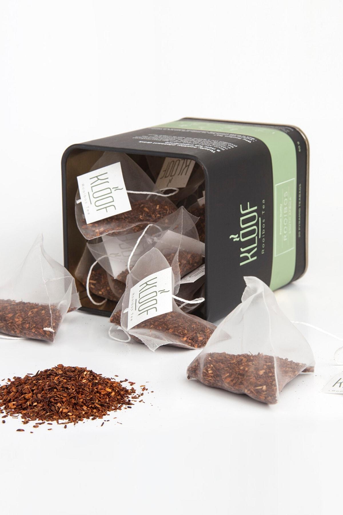KLOOF Rooibos Tea Kafeinsiz, Bağışıklık Sistemini Güçlendiren Roybos Çayı 20'lipiramit Poşet 60gr 2