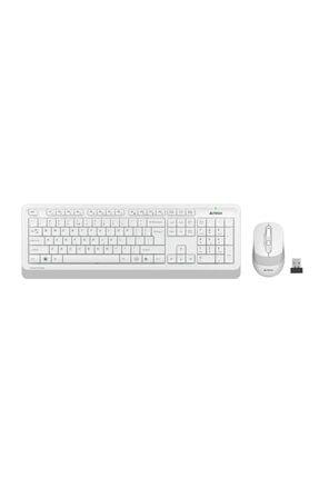A4 Tech Q Tr 2.4g Multimedia Kablosuz Klavye Mouse Seti Beyaz Fg1010