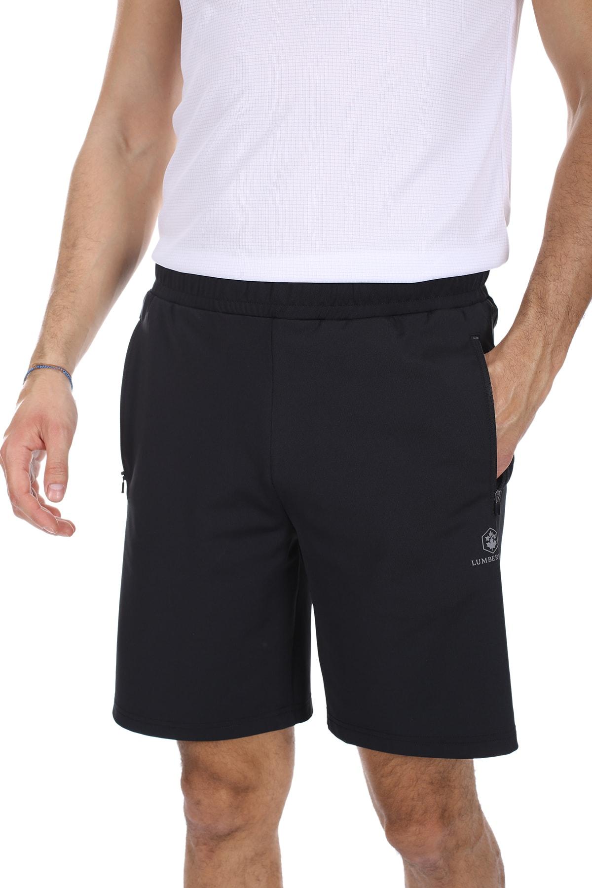 lumberjack Erkek Siyah Slim Fit Basiıc Pes Short Siyah/black 11s40pesshort 1