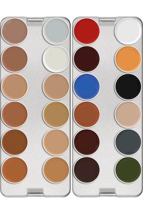 Kryolan Supracolor® Paleti 24 Renk 01008 N