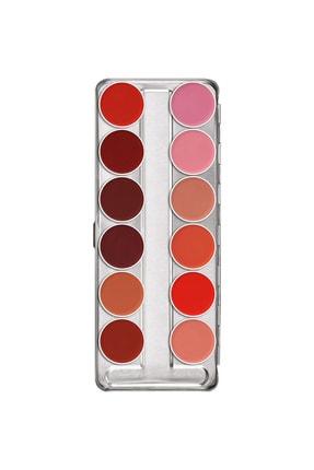 Kryolan 12'li Ruj Paleti Lip Rouge Palette 12 Colors 01204 Classıc1