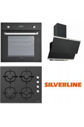 Silverline Siyah Cam Ankastre Set BO6024b01-CS5335B01-3420 Classy