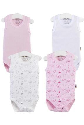 Pattaya Kids Kız Bebek Kolsuz Çıtçıtlı Body 0-36 Ay Ptk20s-400