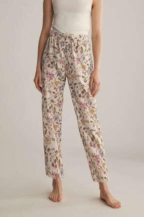 Oysho Kadın Krem Boho Çiçekli Pijama Altı