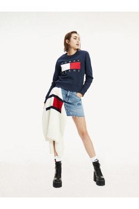 Tommy Hilfiger Kadın Bayrak Logolu Sweatshirt DW0DW07414