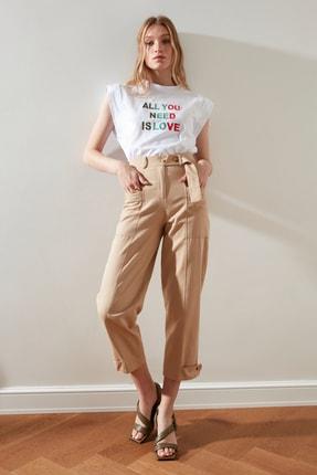 TRENDYOLMİLLA Vizon Cep Detaylı Pantolon TWOSS21PL0365