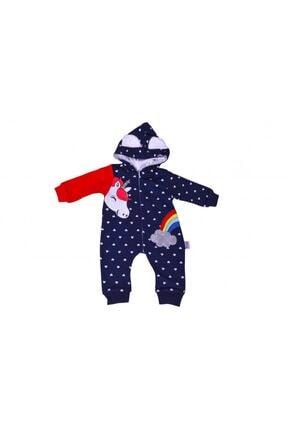 Murat Baby Unisex  Bebek Kırmızı  Gökkuşağı At Desenli Tulum