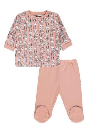 Civil Baby Kız Bebek Pembe Pijama Takımı 0-6 Ay