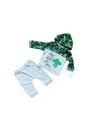 Tongs Baby Unisex Yeşil 2li Bebe Takım