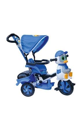 Dilaver Baby Poufi Penguen Ebeveyn Kontrollü Bisiklet /itmeli Tenteli Çocuk/mavi/erkek Çocuk/bebek