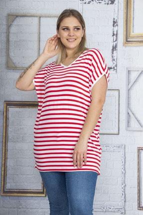 Şans Kadın Kırmızı Sırt Detaylı Viskon Bluz 65N22833