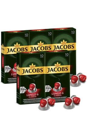 Jacobs Lungo 6 Classico Kapsül Kahve 10 Adet 5 Paket
