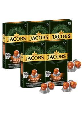Jacobs Espresso 7 Classico Kapsül Kahve 10 Adet   5 Paket