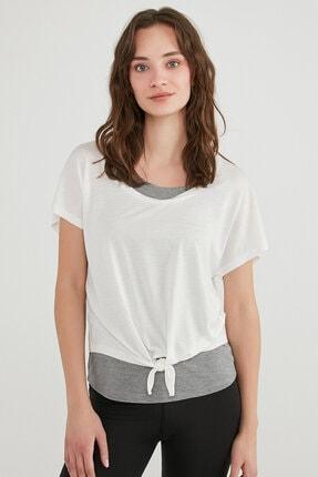 Penti Kadın Beyaz Pft Knotted Double Tişört