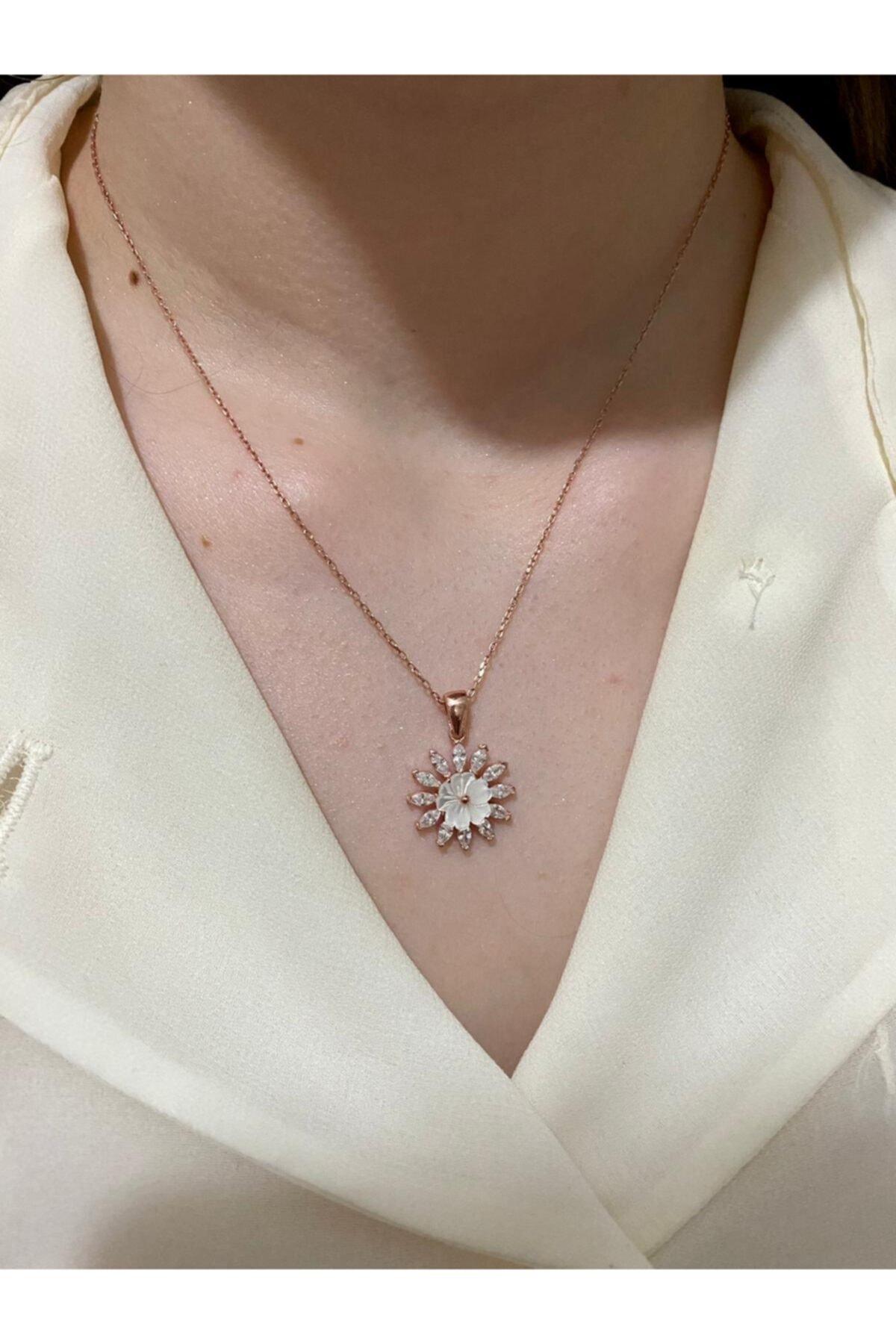 LafleursCollection Manolya Çiçeği 925 Ayar Gümüş Kolye 1