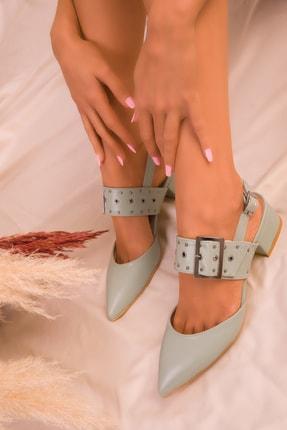 SOHO Yeşil Kadın Klasik Topuklu Ayakkabı 14707