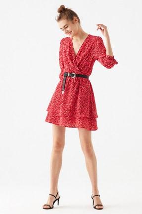 Mavi Kadın Puantiye Baskılı Pembe Elbise 131042-33385