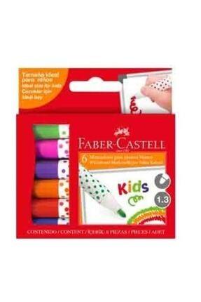 Faber Castell Unisex Çocuk Kids Beyaz Tahta Kalemi 6 Renk