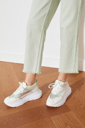 TRENDYOLMİLLA Gümüş Kalın Tabanlı Kadın Sneaker TAKSS21SN0016