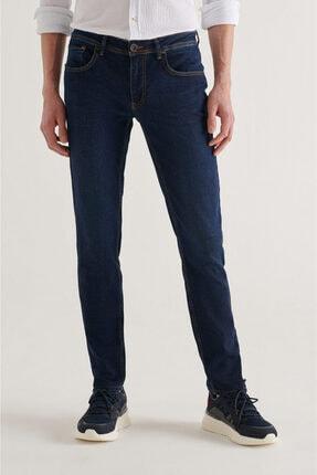Avva Erkek Lacivert Slim Fit Jean Pantolon A11y3543