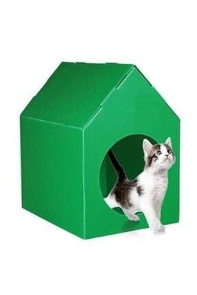 Bereks Plastik Kedi Evi Kedi Kulübesi Kedi Yuvası ( Yeşil )