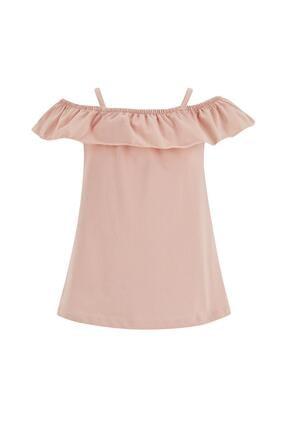 DeFacto Kız Çocuk Pembe Ince Askılı Volanlı Bluz