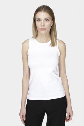 W Collection Beyaz Kolsuz T-shırt